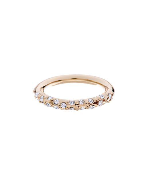 Karen Millen - Metallic Gold & Crystal Sprinkle Ring - Lyst