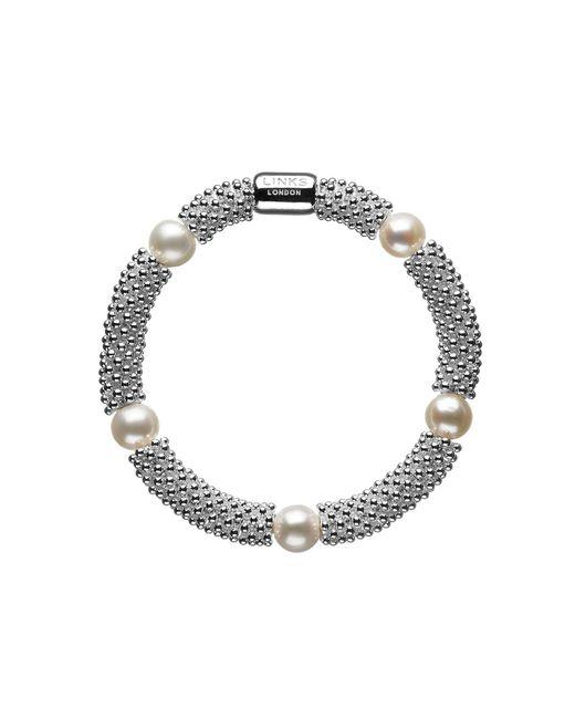 Links of London | Metallic Effervescence Star Sterling Silver Pearl Bracelet | Lyst