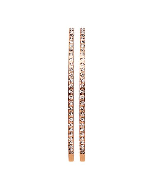 Dyrberg/Kern | Pink Quinn Rose Gold Earrings | Lyst