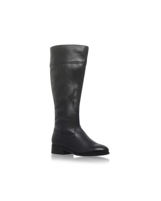 Carvela Kurt Geiger | Black Tock Flat Knee Boots | Lyst