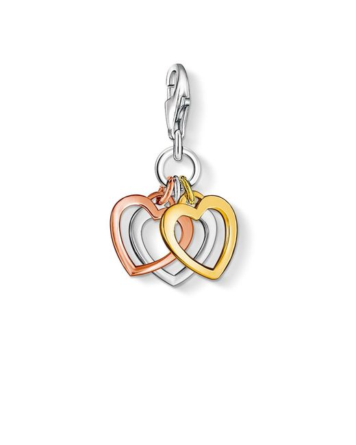 Thomas Sabo | Metallic Charm Club Hearts Pendant | Lyst