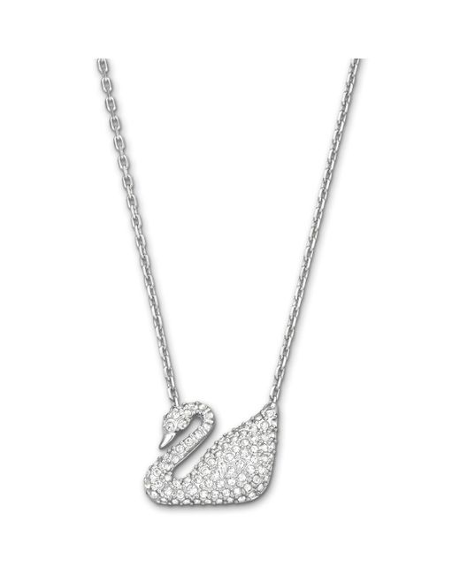 Swarovski | Metallic Swan Necklace | Lyst
