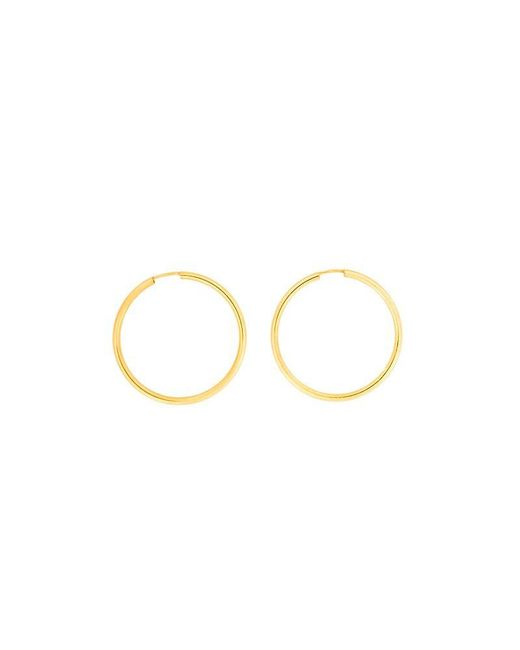 Azendi | Metallic Gold Plated Silver Hoops 3cm | Lyst
