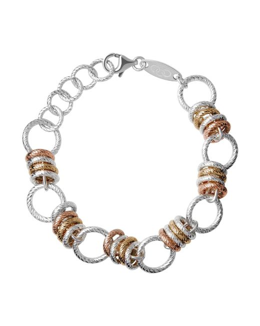 Links of London | Brown Aurora Sterling Silver Large Link Bracelet | Lyst
