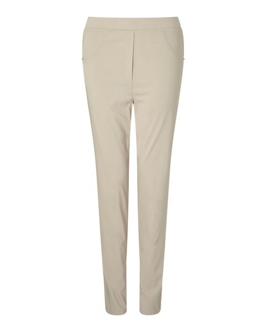 James Lakeland - White Long Length Bengalina Trouser - Lyst
