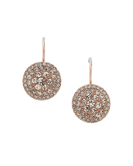 Fossil | Pink Jf00135791 Ladies Rose Iconic Glitz Earrings | Lyst