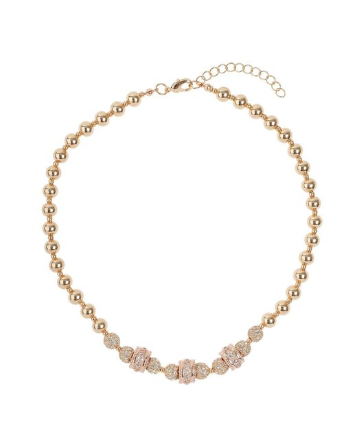 Mikey | Metallic Cubic Crystal Triple Ring Balls Necklace | Lyst