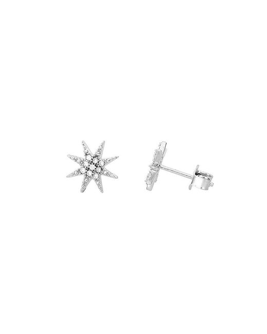Azendi | Metallic Sterling Silver North Star Stud Earrings | Lyst