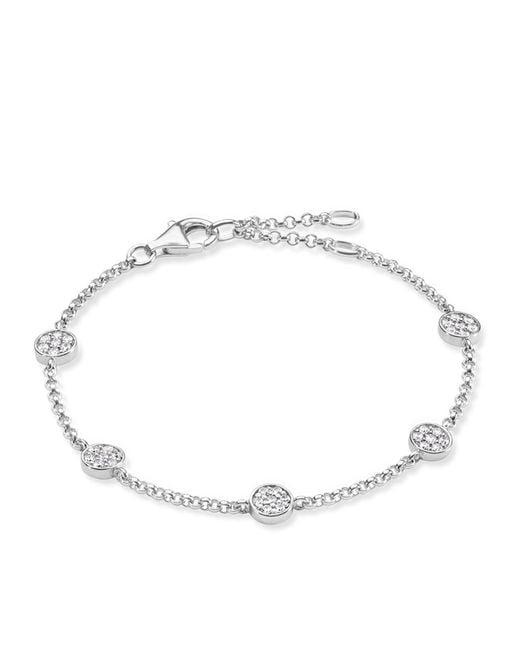 Thomas Sabo | Metallic Sparkling Circles Pave Set Bracelet | Lyst
