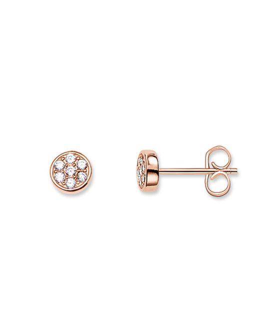 Thomas Sabo | Metallic Sparkling Circles White Pave Ear Studs | Lyst