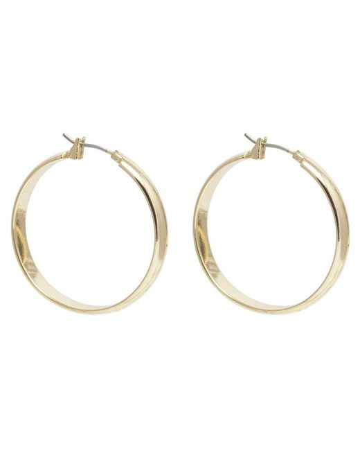 Anne Klein | Metallic Gold Tone Hoop Earrings | Lyst