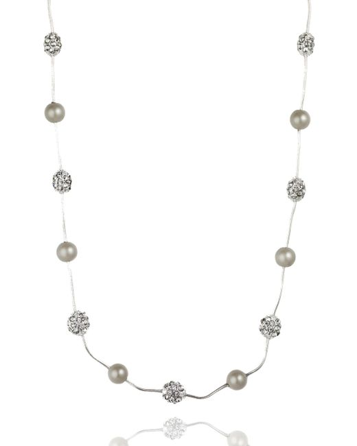 Anne Klein | Metallic Fireball Illustion Strand Necklace | Lyst
