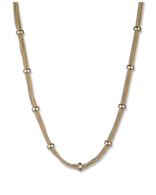 Anne Klein | Metallic Gold Tone Fireball Stud Earrings | Lyst