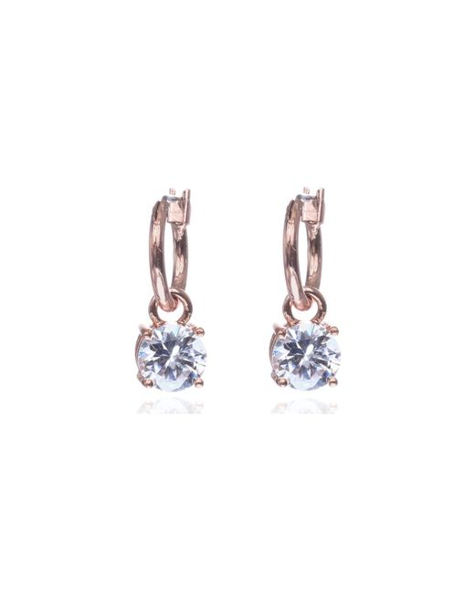 Anne Klein | Blue Stone Drop Hoop Earrings | Lyst