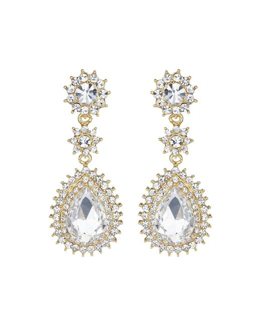 Mikey | Metallic Marquise Eclipse Stone Drop Earring | Lyst