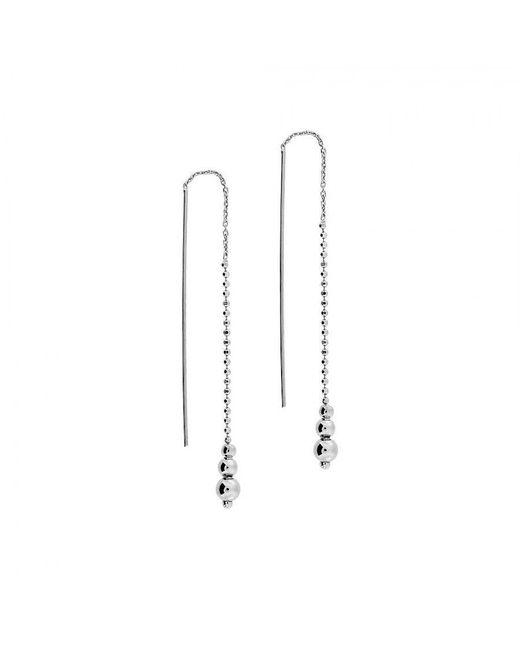 Azendi | Metallic Graduated Beads Earrings | Lyst
