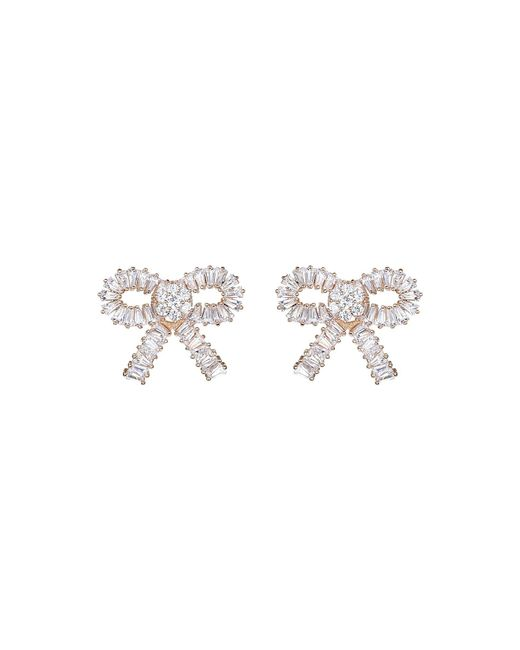 Mikey | Multicolor Large Cubic Bow Stud Earring | Lyst