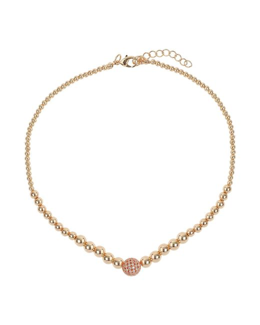 Mikey | Metallic Fine Cubic 12mm Ball Metal Necklace | Lyst