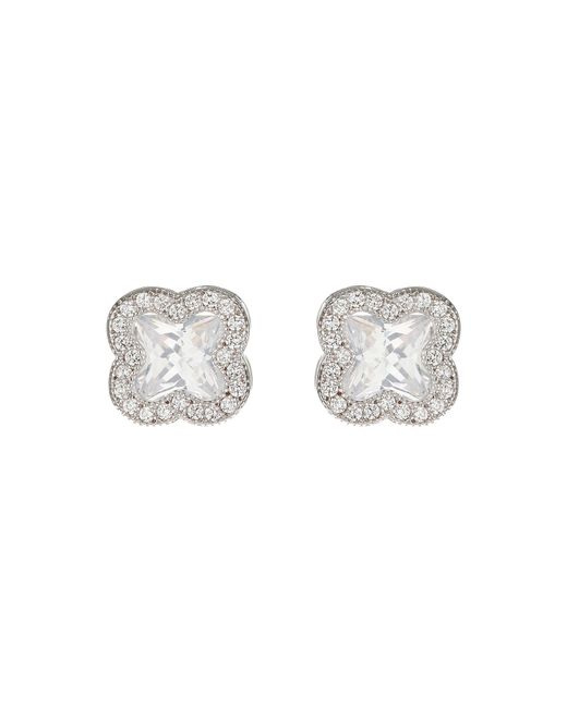 Mikey | Metallic Cross Square Cubic Stud Earring | Lyst