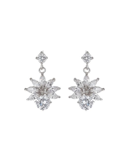 Mikey | Metallic Cubic Drop Flower Stud Earring | Lyst