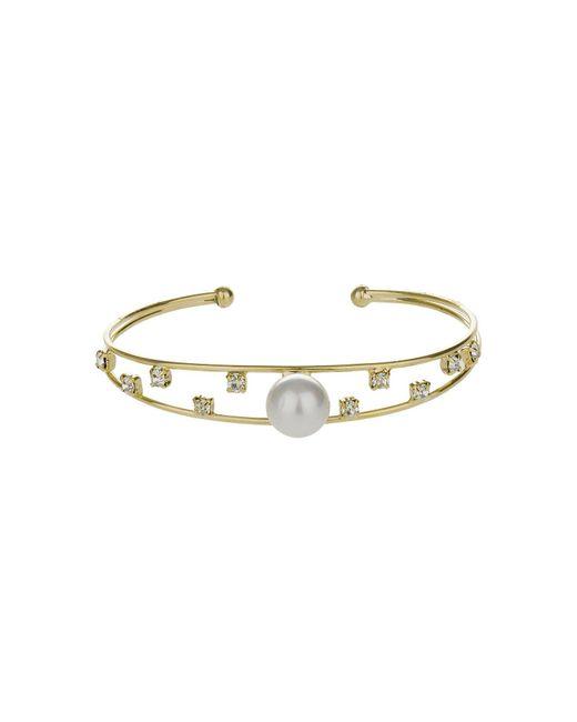 Mikey | Metallic Pearl Head Spread Cubic Cuff | Lyst