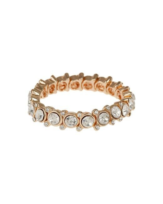 Mikey | Metallic Round Cased Cubic Linked Stones Bracelet | Lyst