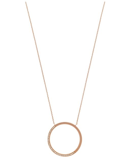 Michael Kors | Metallic Signature Sparkle Pendant Necklace | Lyst