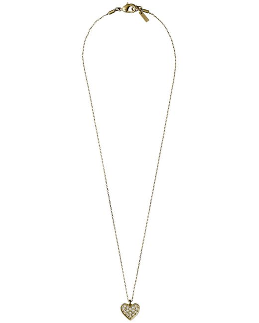 Pilgrim | Metallic Gold Plated Crystal Necklace | Lyst