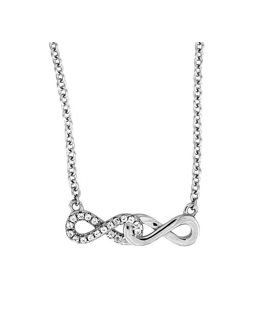 Azendi | Metallic Double Infinity Necklace | Lyst