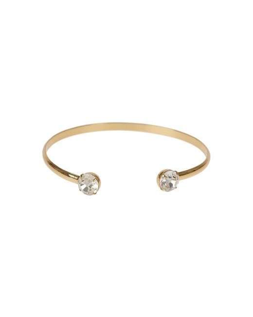 Mikey | Metallic Crystal Cap End Wire Cuff Bracelet | Lyst