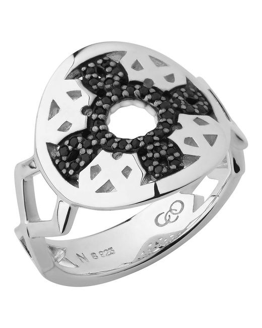 Links of London | Metallic Timeless Sterling Silver & Black Sapphire Ring | Lyst