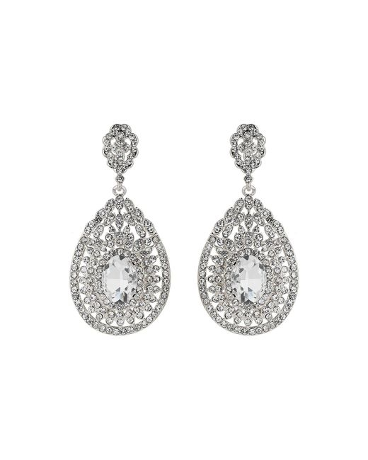 Mikey | Metallic Eclipse Filligree Crystal Stone Earring | Lyst