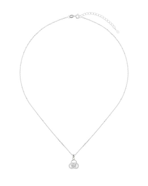 Mikey - Metallic Silver Curve Edge Crystal Pendant - Lyst