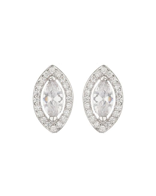Mikey | Metallic Filligree Eclipse Cubic Stud Earring | Lyst