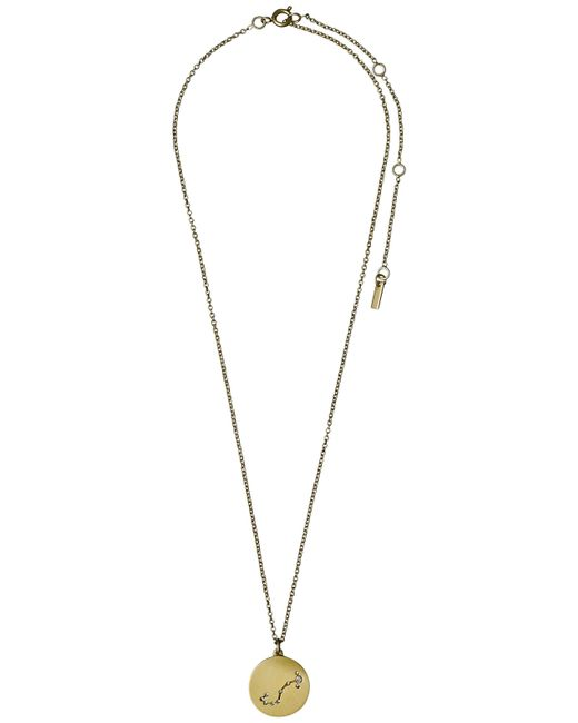 Pilgrim | Metallic Scorpio Crystal Gold Plated Necklace | Lyst