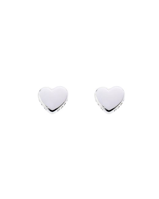 Ted Baker | Metallic Harly Silver Tiny Heart Stud Earring | Lyst
