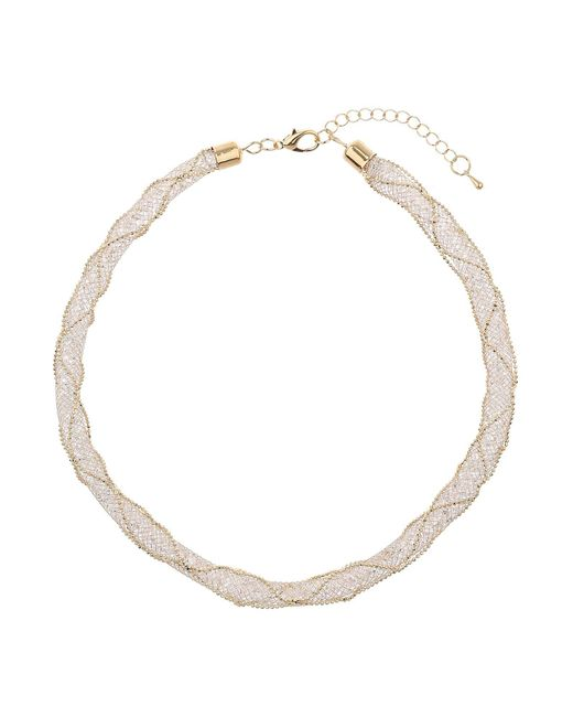 Mikey | Metallic Crystal Rope Cover Wire Woven Necklace | Lyst
