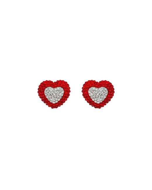 Mikey   Metallic Two Tone Heart Earring   Lyst