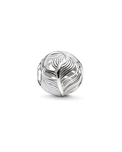 Thomas Sabo   Metallic Silver Feather Karma Bead   Lyst