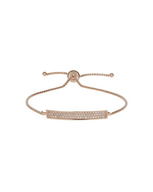Mikey - Metallic Cubic Band Tie Up Bracelet - Lyst