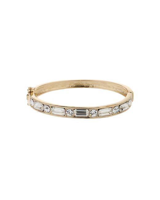 Mikey   Metallic Rectangle Crystal Link Bracelet   Lyst