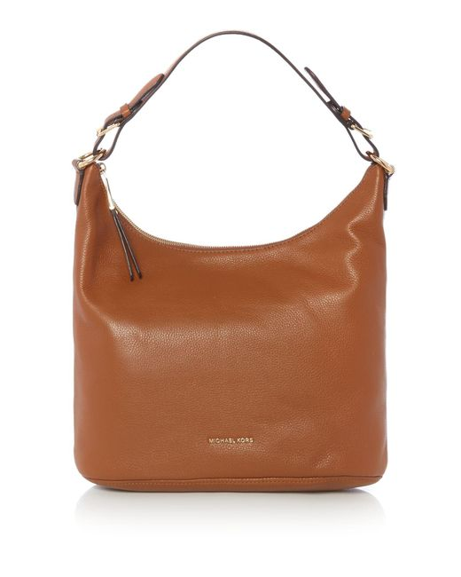 Michael Kors | Brown Lupita Tan Large Hobo Bag | Lyst