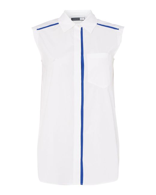 Sportmax Code   White Mirto Sleeveless Front Pocket Shirt   Lyst