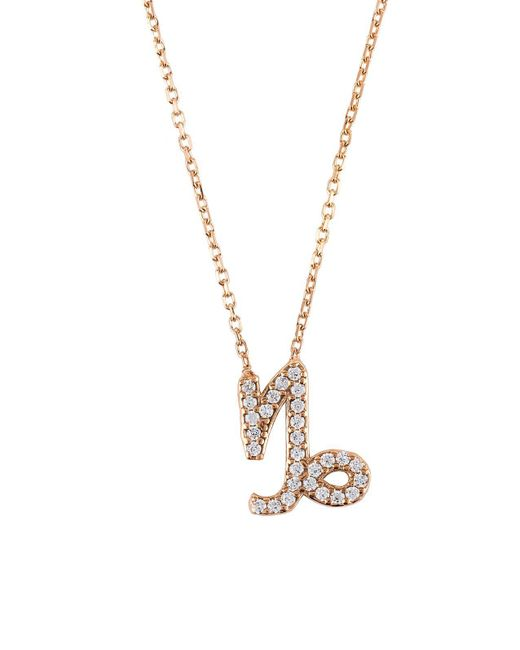 Latelita London | Multicolor Zodiac Necklace Rose Gold Capricorn | Lyst