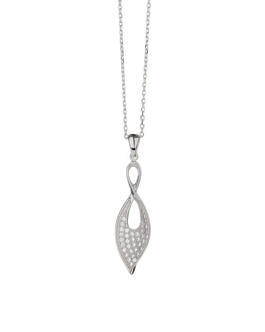 Mikey   Metallic Sterling Silver 925 Flame Twin Pendant   Lyst