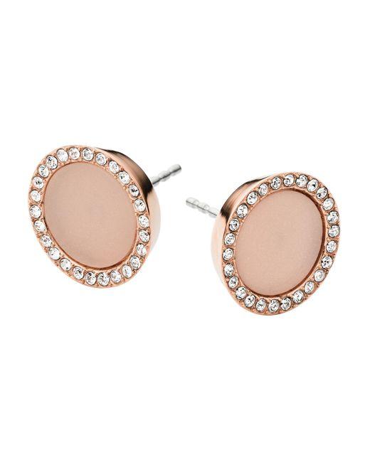 Michael Kors   Pink Stud Earrings   Lyst