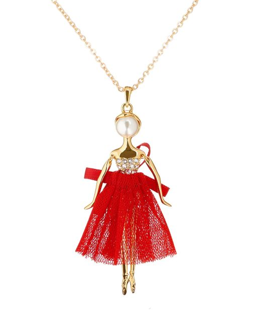 Ted Baker | Multicolor T13240215 Bijou Pave Ballerina Pendant | Lyst