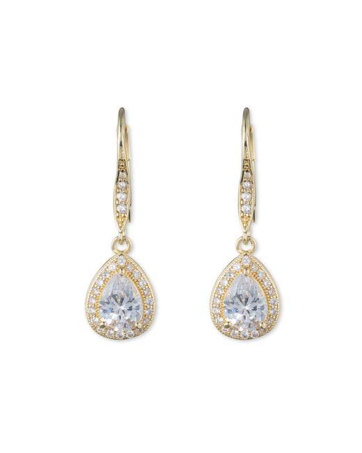 Anne Klein | Metallic Pear Eurowire Earrings | Lyst