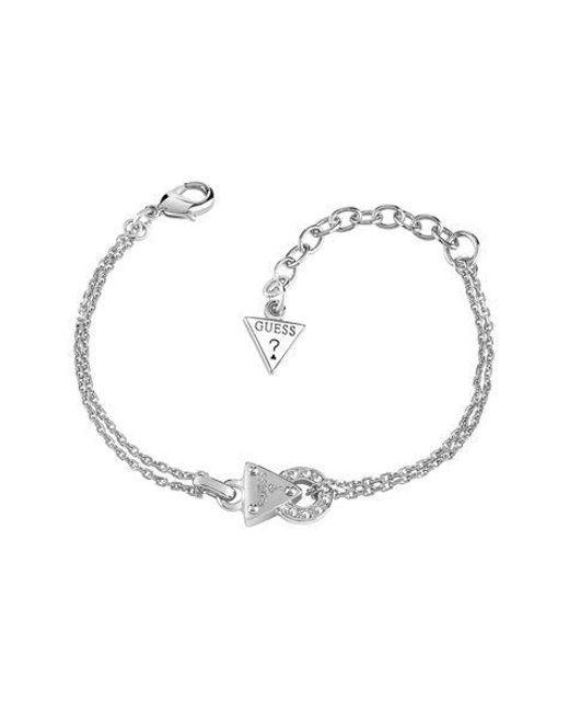Guess | Metallic Embrace Me Mini Circle Lock Bracelet | Lyst