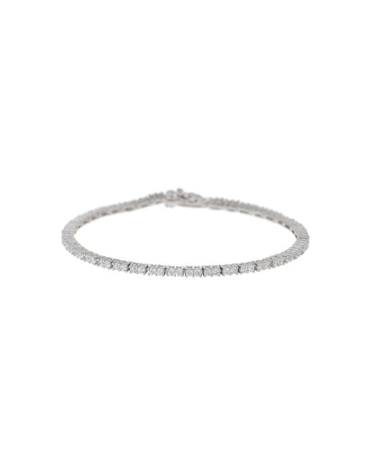 Mikey | Metallic Silver 925 Cubic Sqaure Linked Bracelet | Lyst